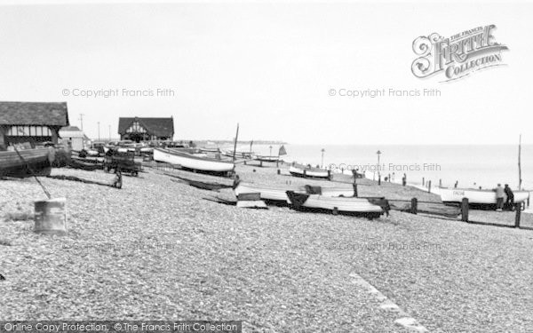 Photo of Aldeburgh, The Beach Looking North c.1955