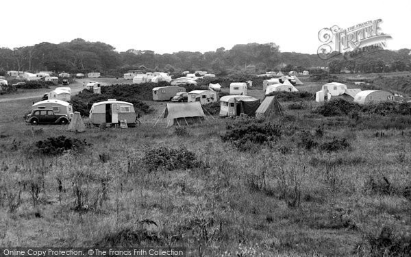 Photo of Aldeburgh, The Camping Ground c.1955