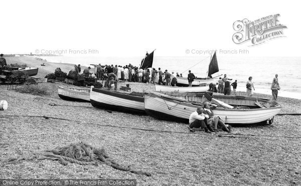 Aldeburgh, the Fishing Boats c1955