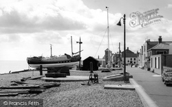 Aldeburgh, The Lifeboat And Crag Path c.1965