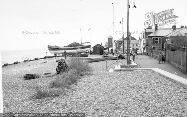Photo of Aldeburgh, The Lifeboats, Crag Path c.1955