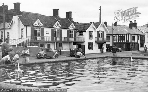 Photo of Aldeburgh, the Model Boat Pond c1955