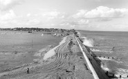 Aldeburgh, The Sea And River Alde c.1960