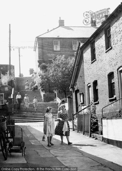 Aldeburgh, Town Steps c.1955