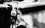 Alderholt, Fishing On The River Allen c.1960
