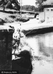 Alderholt, Fishing On The River Allen c.1960