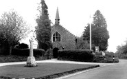 Alderholt, Memorial and St James' Church c1960