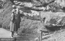 Alderley Edge, Children At The Wizard's Well c.1955