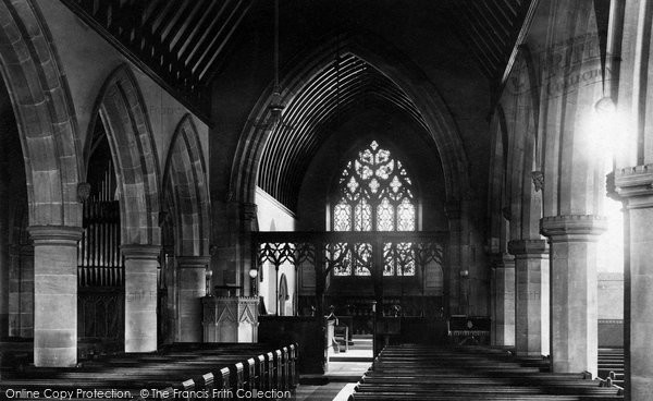 Alderley Edge, St Philip's Church Interior 1896