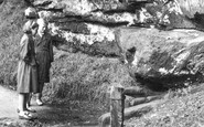 Alderley Edge, the Wizard's Well c1955