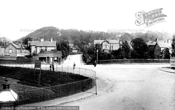 Photo of Alderley Edge, Trafford Road From The Railway Station 1896