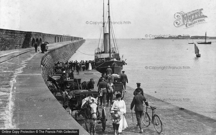 Alderney, Arrival Of The Courrier c.1916
