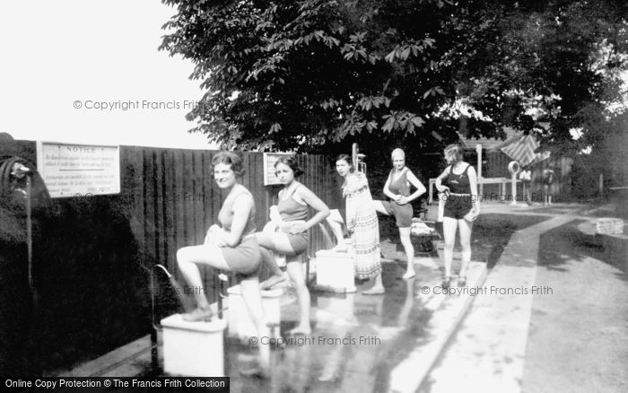 Photo of Aldershot, Bathing Pool, Feet First 1931