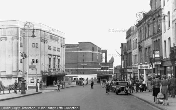 Photo of Aldershot, High Street c.1955