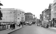 Aldershot, High Street c1955
