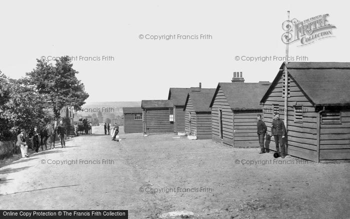 Photo of Aldershot, 'q' Line Huts 1892