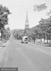 Aldershot, Queen's Avenue, Cathedral Church Of St Michael And St George c.1955