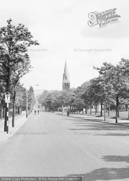 Photo of Aldershot, St George's Church From Queens Parade c.1960