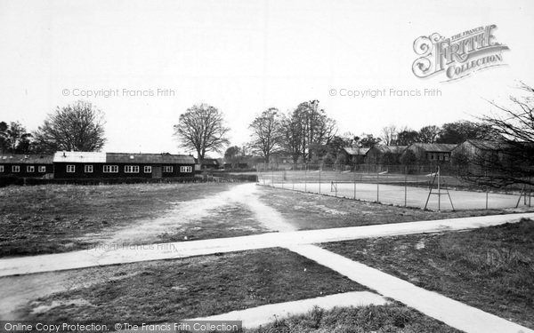 Photo of Aldershot, Tennis Courts And Sergeants Mess, Connaught Hospital c.1955