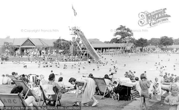 Aldershot, the Bathing Pool c1950