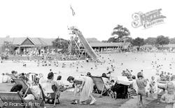 Aldershot, The Bathing Pool c.1950