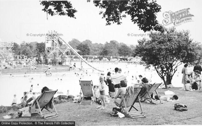 Photo of Aldershot, The Bathing Pool c.1955