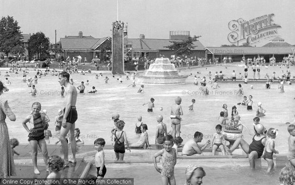 Photo of Aldershot, The Bathing Pool c.1955