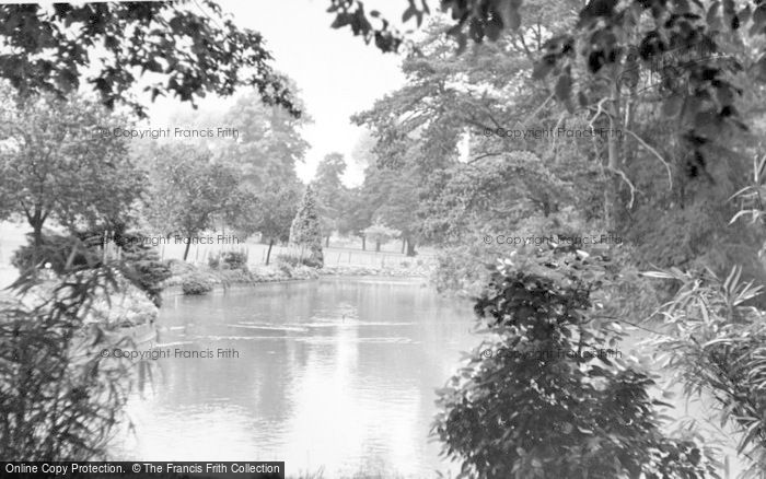 Photo of Aldershot, The Lake, Manor Park c.1955
