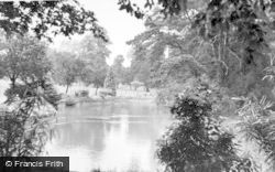 Aldershot, The Lake, Manor Park c.1955