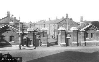 Aldershot, the Warburg Barracks Gates 1932