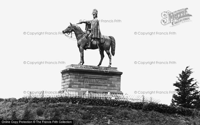 Photo of Aldershot, The Wellington Statue c.1960
