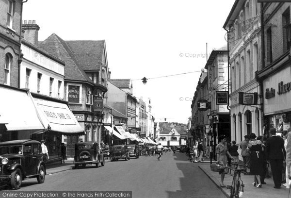Photo of Aldershot, Union Street c.1955
