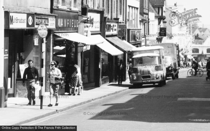 Photo of Aldershot, Union Street, Shops c.1965