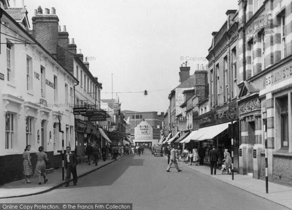 Photo of Aldershot, Wellington Street c.1955
