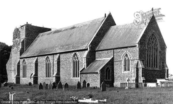 Photo of Alderton, St Andrew's Church c.1955