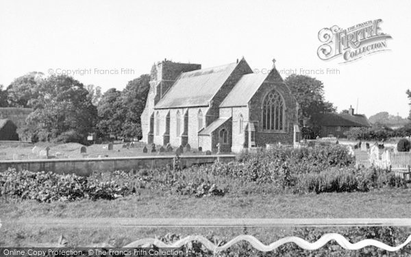 Photo of Alderton, The Church c.1955