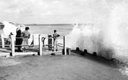 Aldwick, Rough Sea, Dark Lane c.1955