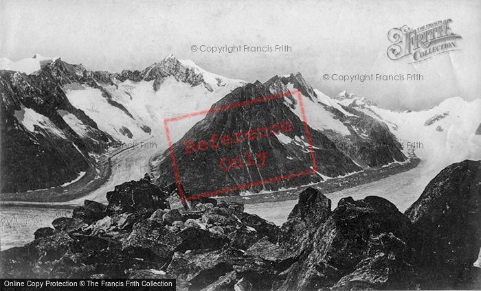 Photo of Aletsch Glacier, Aletschorn, Jungfrau c.1875
