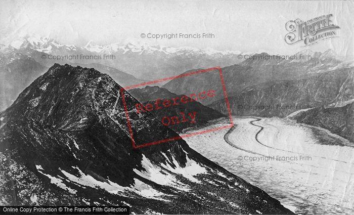 Photo of Aletsch Glacier, Looking Down The Glacier c.1875
