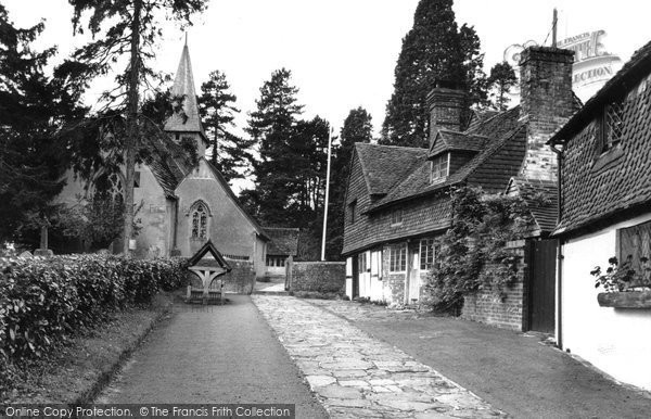 Photo of Alfold, St Nicholas Church And Stocks c.1955