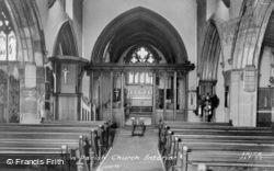 St Martin's Church, Interior c.1965, Alfreton