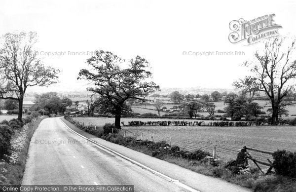 Photo of Alfreton, View From Wingfield Road c.1960