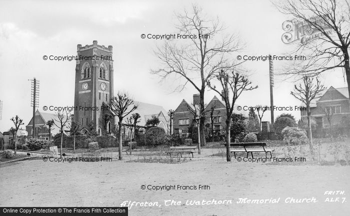 Photo of Alfreton, Watchorn Memorial Church c.1955