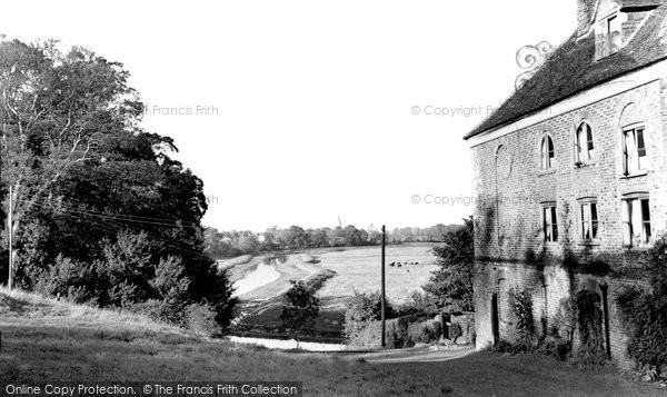 Alfriston, Burnt House And River Cuckmere c.1960