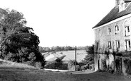Alfriston, Burnt House and River Cuckmere c1960