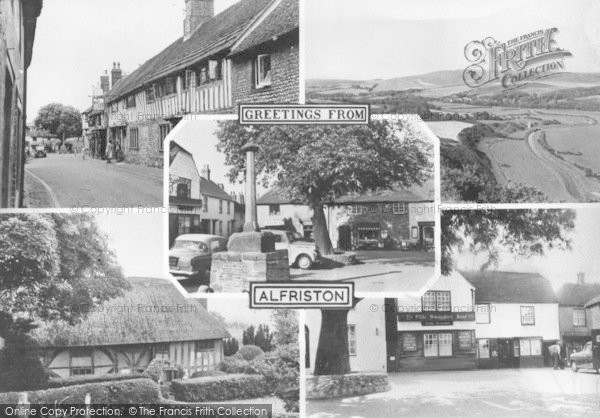 Photo of Alfriston, Composite c.1960