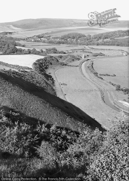 Photo of Alfriston, Cuckmere Valley From High And Over c.1960