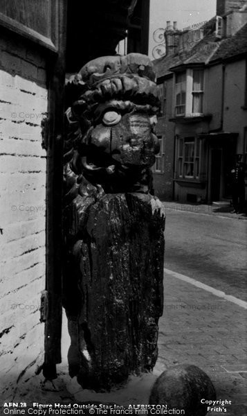 Photo of Alfriston, Figure Head Outside Star Inn c.1955
