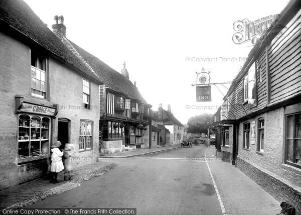 Photo of Alfriston, High Street And The Star And George Inns 1921