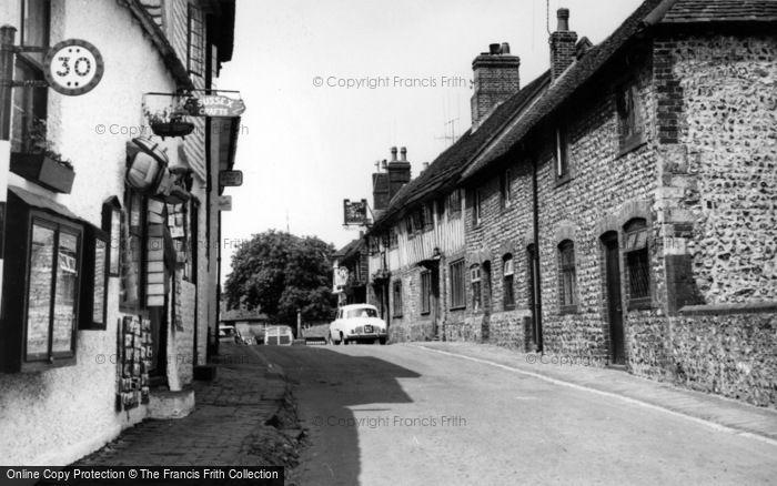 Photo of Alfriston, High Street c.1960